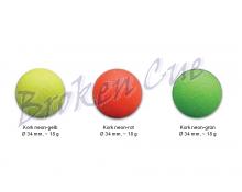 Kickerbälle Kork neon-farbig  (Gesamtübersicht) - nur noch neon-grün lieferbar!!